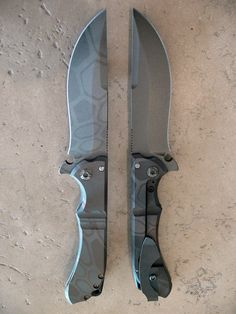 Dervish Knives   2 special Cerakote finish midtech Alchemies with Kryptek inspired patterns.