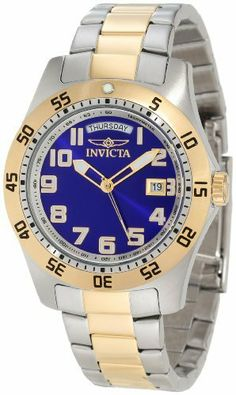 Invicta Men's 5253 II Collection Two-Tone Stainless Steel Watch Invicta. $59.99. Water-resistant to 330 feet (100 M). Precise, high-quality Swiss-quartz movement. Blue dial with gold-tone hands and Arabic numerals; luminous; unidirectional gold-tone stainless steel bezel; tachymeter on inner bezel. Day and date function. Durable flame-fusion crystal; brushed and polished two tone stainless steel case and bracelet. Save 82%!