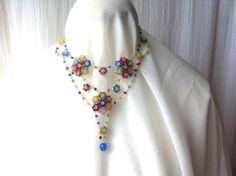 Superbe collier cristal Swarovski, mode été, multicolore : Collier par passionnement16
