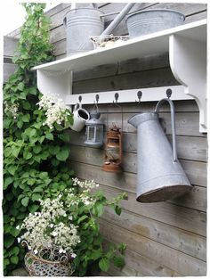 console in my garden Great look on the side of a shed