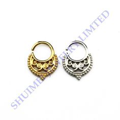 FREE SHIPPING WORLDWIDE SHUIMEI  2pcs Assorted Silver Gold Tribal Septum Clicker Piercing Punk Nose Ring Bone Charm Hoop Body Jewelry  Wholesale