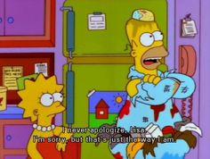 Homer didn't mean it.