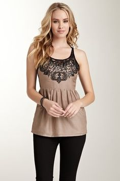 Lace Trim Tank /// really cute top