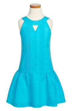 Maria Casero 'Capri' Linen & Cotton Sleeveless Dress (Big Girls) available at #Nordstrom