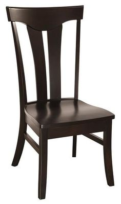 Amish Tifton Dining Chair 10 wood options to choose from. And a unique feature is the option to choose a live edge for these chairs. The Tifton is a best seller among Amish made dining chairs.