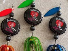 Valentines Day Gift for Him 3pk Fishing Lures by Luregasmic, $19.00