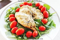 Clean Eating Dinner Idea - Herb-Rubbed Broiled Chicken #cleaneating #eatclean #healthyrecipe