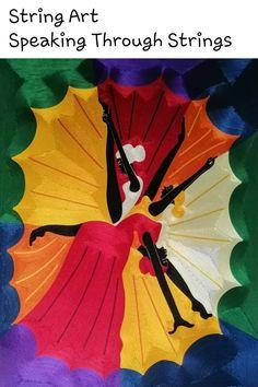 Open Art, String Art, Black Art, Hand Fan, Home Appliances, House Appliances, Appliances, Dark Art