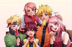 Naruto Names, Naruto Vs, Anime Naruto, Naruto Shippuden, Boruto, Uzumaki Family, Naruto Family, Sakura Haruno, Familia Uzumaki