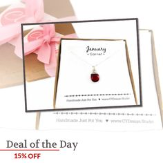 Today Only! 15% OFF this item.  Follow us on Pinterest to be the first to see our exciting Daily Deals. Today's Product: Sale -  Garnet Necklace - January Birthstone - Dainty Drop Necklace - Sterling Silver Necklace - Gemstone Briolette Necklace - Gift for Her Buy now: https://www.etsy.com/listing/477255420?utm_source=Pinterest&utm_medium=Orangetwig_Marketing&utm_campaign=Daily%20Deal   #etsy #etsyseller #etsyshop #etsylove #etsyfinds #etsygifts #musthave #loveit #instacool #shop #shopping…