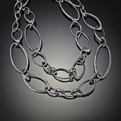 Long Multi Facet Neclace: Dahlia Kanner: Silver Necklace | Artful Home