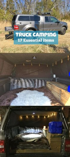 Build an ultra comfortable camper in the bed of your truck with a dedicated electrical system to charge your electronics, lights, and even watch movies.