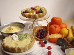 Alimentos Miniatura - Frutas Preparación Tarta # 2