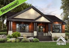 The Limestone model offers modern styling and great design with a twist. Your dream modular Guildcrest home for the price of rent. Modern Bungalow Exterior, Dream House Exterior, Home Building Design, Building A House, House Design, Building Ideas, Modern Prefab Homes, Prefabricated Houses, Home Exterior Makeover