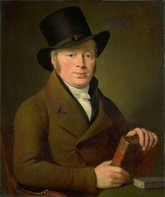 Adriaan de Lelie(1755–1820) Barend Klijn Barendsz (1774-1829). DichterDescription  Nederlands:Portret van de dichter Barend Klijn Barendsz. Bustem, zittend achter een tafel met zijn hoed op en het boek met de titel 'Vondel's Poëzy' in de handen.  Date1813Mediumoil on canvasDimensionsHeight:74.5 cm (29.3 in)Width:62 cm (24.4 in)Current location  Rijksmuseum Amsterdam