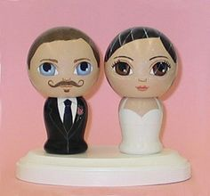 Custom Wedding Cake Toppers with Pedestal Hand by dandelionland, $130.00