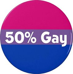 50% Gay Bisexual Flag Magnet LGBT Bi - Brought to you by Avarsha.com