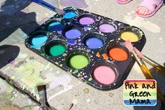 cornstarch sidewalk chalk paint