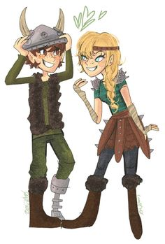 hiccup_and_astrid_by_cam070