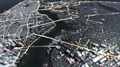 Robert Hodgin › Taxi, Taxi! Taxi, Concept, Graphic Design, Prints, Sculptures, Technology, Models, Diamond, Interaction Design