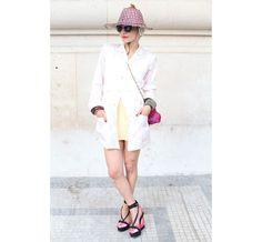 Street looks à la Fashion Week haute couture de Paris, Jour 2 La styliste Catherine Baba