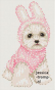 42 Free cross stitch designs dogs 1 stitchingcharts borduren gratis borduurpatronen honden kruissteekpatronen