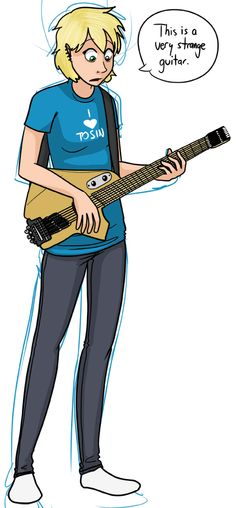 Hannelore with a guitar! By Jeph Jacques.