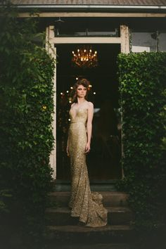 White Magazine: Issue Golden Gatsby shot by Logan Cole and styled by She Designs Festa Party, Bustier, Beautiful Gowns, Dream Dress, Pretty Dresses, Women's Dresses, Dress To Impress, Wedding Gowns, Gold Wedding