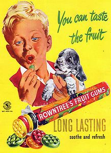 Vintage Advertising Posters | Advert for Rowntree's Fruit Gum