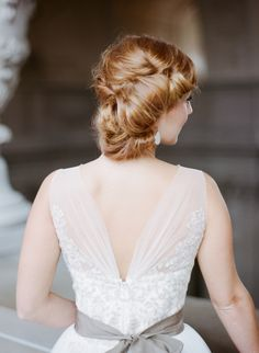 Hairstyle -- On SMP: http://www.StyleMePretty.com/2013/10/01/parisian-inspired-photo-shoot-from-sylvie-gil/ Sylvie Gil Photography