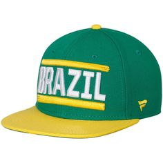 Brazil National Team Patriot Snapback Adjustable Hat - Green/Yellow