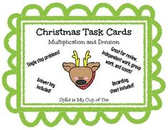 These fun, Christmas-themed task cards focus on single digit multiplication and division problems, including one-step story problems and basic number sentences. They can be used to reinforce multiplication and division skills in a variety ways, such as during small group instruction, independent work time, partner