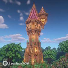 Minecraft Medieval Tower, Minecraft Palace, Minecraft Cottage, Minecraft Castle, Cute Minecraft Houses, Minecraft House Designs, Amazing Minecraft, Minecraft Blueprints, Minecraft Crafts