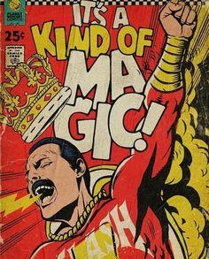 'Planet Mercury' - Queen-Songs als Vintage Comic Cover von Butcher Billy Comic Book Rooms, Comic Book Crafts, Comic Book Costumes, Make A Comic Book, Comic Book Display, Comic Book Artists, Comic Books Art, Comic Book Style Art, Marvel Comic Books