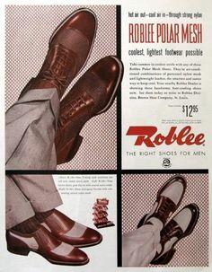 Vintage Mens Shoes Advertisement (1942) Herenmode en Kleding