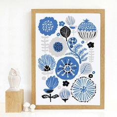 Art Print 'Blue Flora'