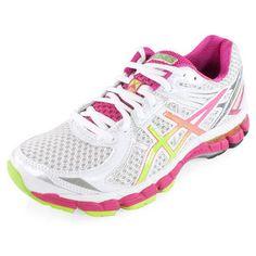 TheASICSWomen's GT-2000 2 Running Shoes White, Lime, and Raspberry DREAM SHOE