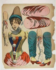 Victorian paper clown
