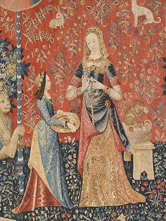 La dame à la licorne : l'odorat -  détail