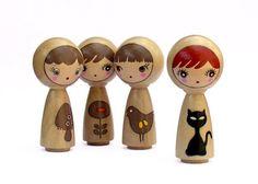 different type of peg dolls