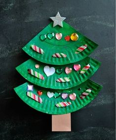 Kreative DIY Bastelideen für Weihnachtsbasteln mit Kindern DIY crafting ideas for Christmas crafts with children, make gifts yourself, magic paper plates to the Christmas tree, crafts and painting Lace Christmas Tree, Christmas Tree Crafts, Preschool Christmas, Christmas Paper, Christmas Activities, Christmas Projects, Kids Christmas, Holiday Crafts, Christmas Gifts