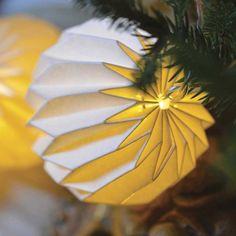 Guirlande Lumineuse Origami écrue
