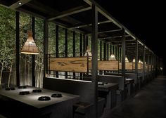 Stunning Installations by Joy-Chou Yi – the House of Grace Japanese Restaurant Interior, Japanese Interior Design, Restaurant Interior Design, Restaurant Booth, Restaurant Lighting, Banquette Seating Restaurant, Magic Places, Booth Seating, Bar Interior