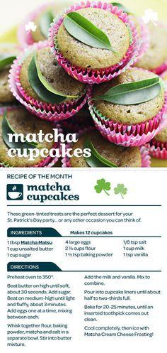Matcha Green Tea Cupcakes!
