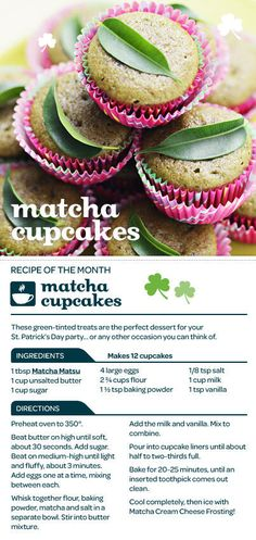 Matcha Green Tea Cupcakes!