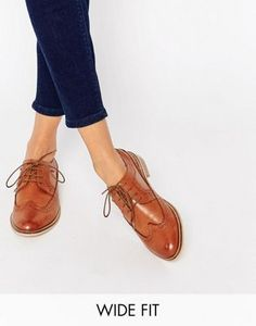 ASOS | ASOS MAI Wide Fit Leather Brogues