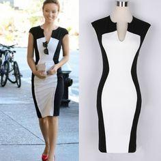 Fashion Womens Rockabilly Celeb Style Bodycon Stretch Party Pencil Dress N680 | eBay