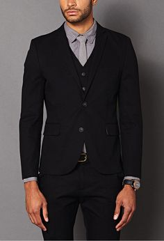 $54, 21men 21 Structured Twill Blazer. Sold by Forever 21. Click for more info: https://lookastic.com/men/shop_items/71321/redirect
