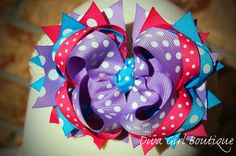Boutique Hairbow Tutorial How to make by divagirlboutique on Etsy