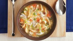 Progresso® broth provides a simple addition to this chicken and noodle soup. A hearty dinner ready in 30 minutes.